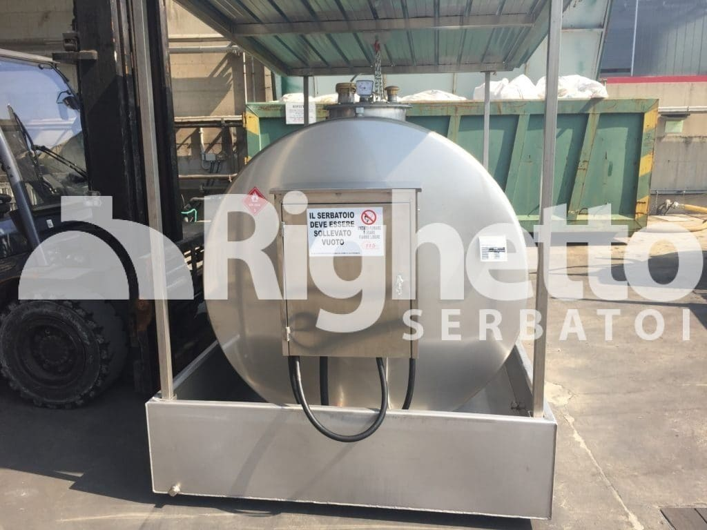 Cisterna per gasolio omologata in acciaio Inox